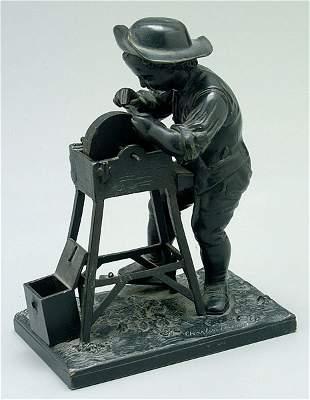 Bronze figure after Charles Menne,