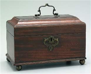 English mahogany tea box,