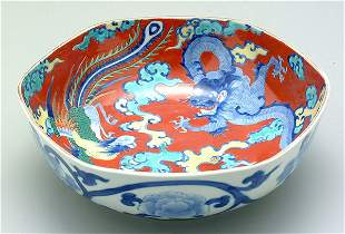 [Fukagawa] hexagonal bowl,