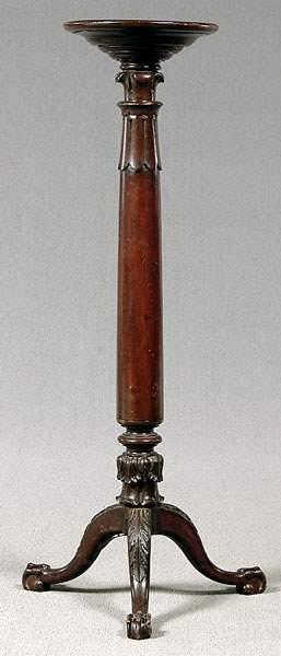 Mahogany tripod pedestal,