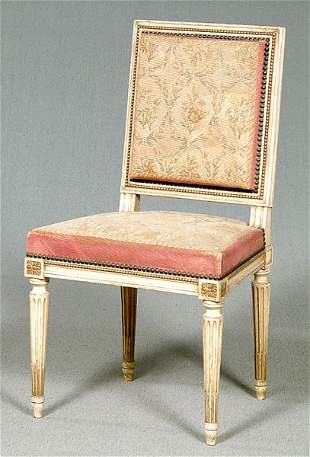 Louis XVI-style French side chair,