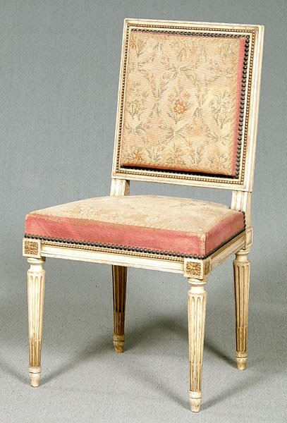 668: Louis XVI-style French side chair,