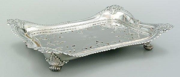670: Tiffany sterling serving tray,