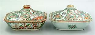 Two Chinese porcelain entrée servers
