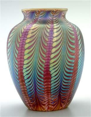 Lundberg Studios art glass vase,