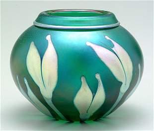 Lotton art glass vase,