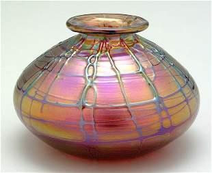 Abelman art glass vase,