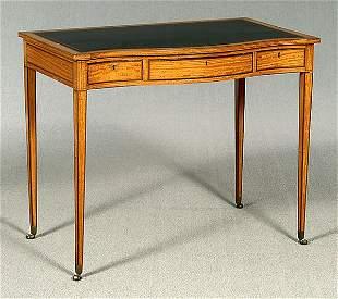 Satinwood writing desk,