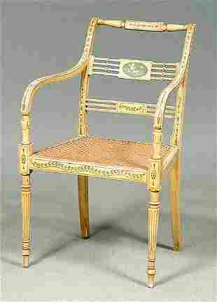 Cane seat French chair,
