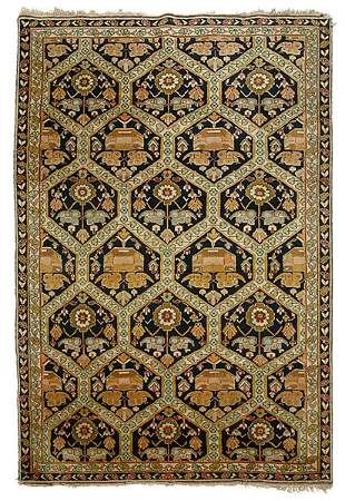 Finely woven Sarouk rug,