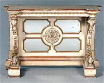 711 Ornate painted and gilt pier table