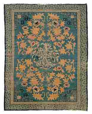 19th century Chinese Peking rug,