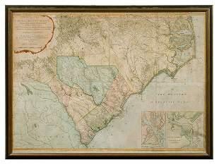 Henry Mouzon map of the Carolinas
