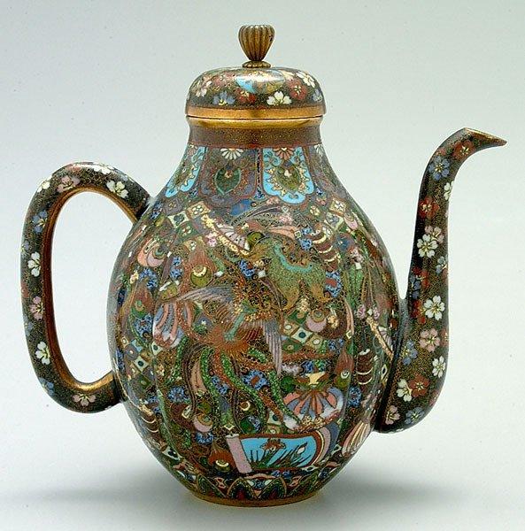 917: Fine Japanese cloisonné teapot,