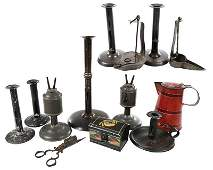 13 Tole and Metal Mostly Lighting Accessories