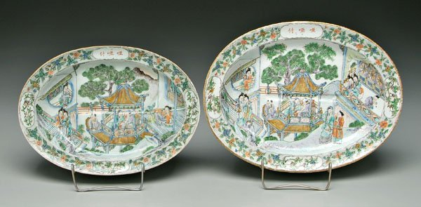 18: Two Chinese export platters: