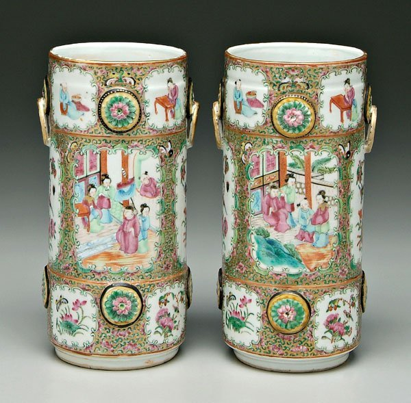 20: Pair Chinese porcelain vases,