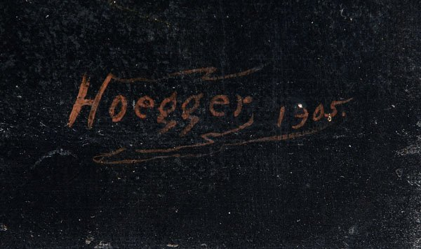 324: Ulrich Augustus Hoegger painting - 3