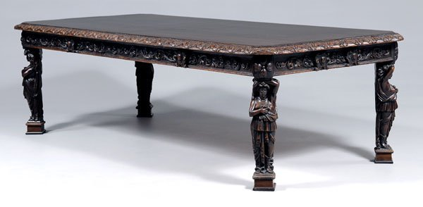 578: Belgian carved banquet table,