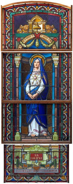 584: 1891 French stained glass window: