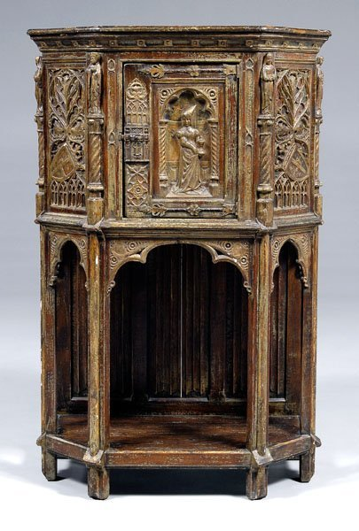 586: Gothic Revival court cupboard,