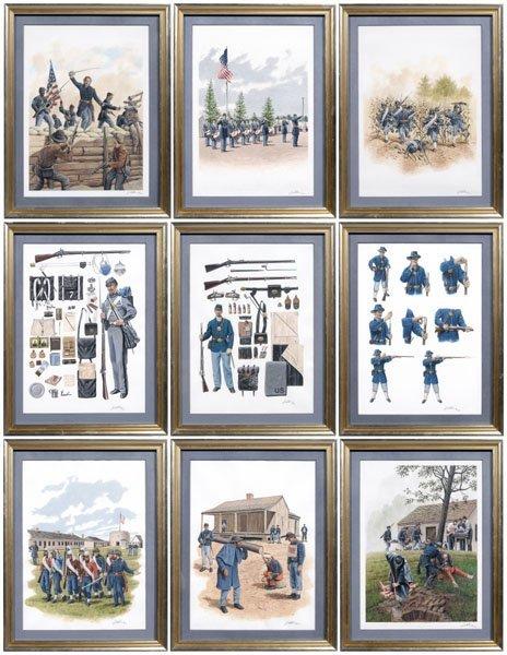 999: Nine original Civil War illustrations,