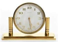 Vintage Tiffany  Co Brass Desk Clock