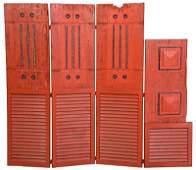Rustic Four Panel Art Screen