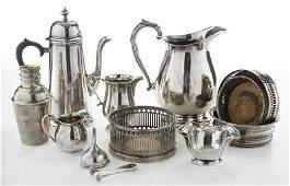 12 Pieces Silver Hollowware