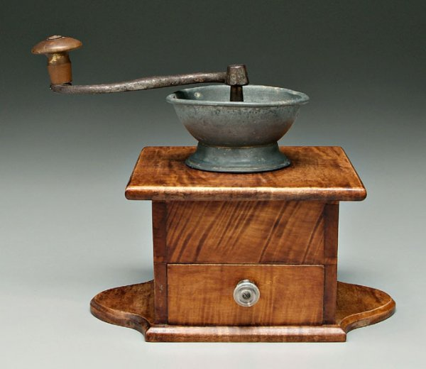 2: Curly maple coffee mill,