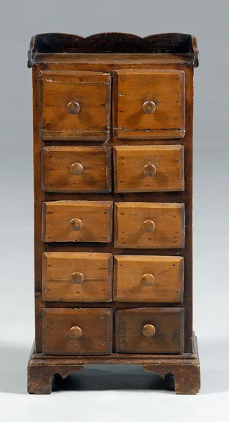 16: Ten-drawer apothecary cabinet,