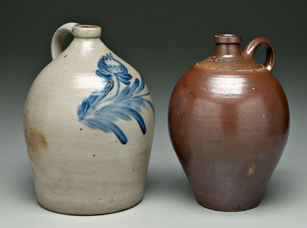 17: Two stoneware jugs:
