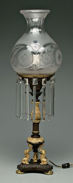 173: Ormolu mounted astral lamp,