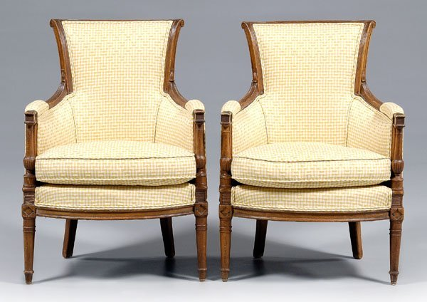 636: Pair French [directoire] [bergère]: