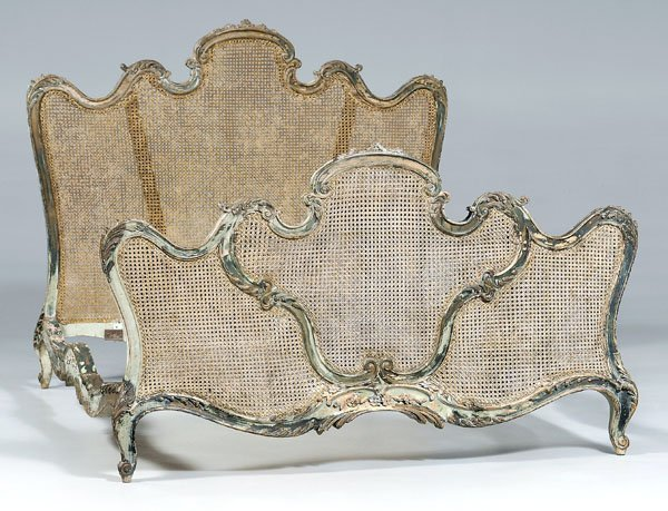 639: Louis XV style carved bedstead,