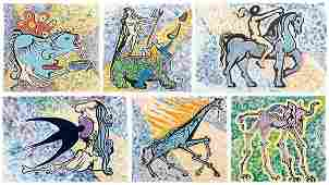 959 Six Salvador Dali lithographs