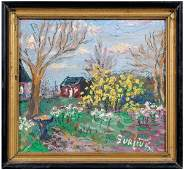 1052 David Burliuk painting