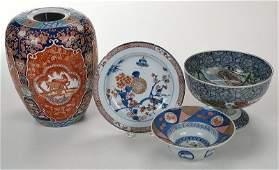 Four Pieces Imari Palette Asian Porcelain