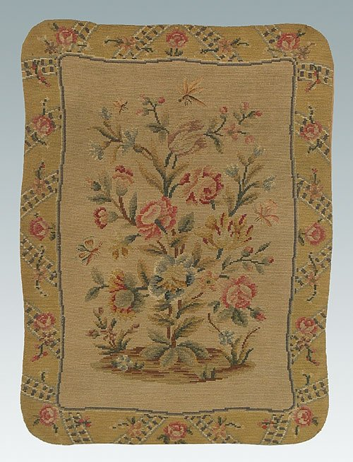 16: Needlepoint and petit point hanging, cent