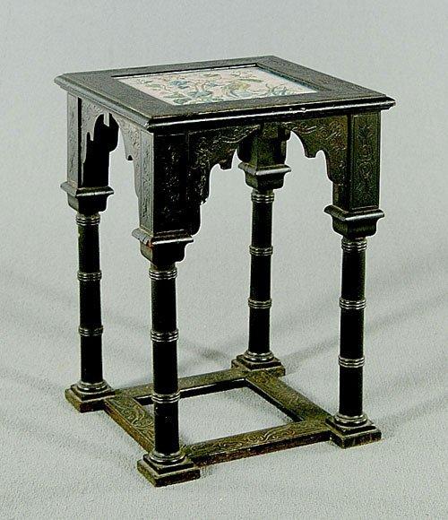 16A: Ebonized aesthetic movement stand, teles