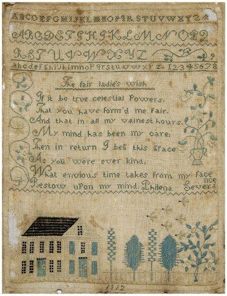 7: 1812 alphabet and verse sampler,
