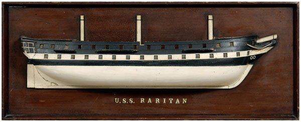 17: Boat half model, USS Raritan,