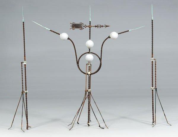 20: Iron, copper and glass weathervane