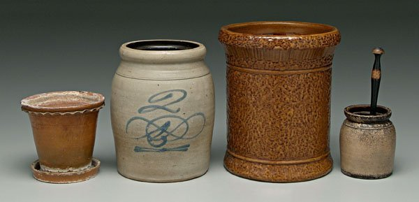 23: Four pieces pottery: