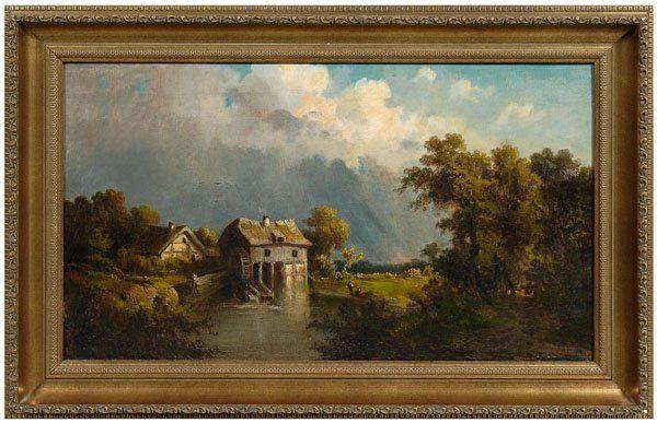 427: Guido Hampe painting