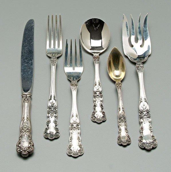 741: Gorham Buttercup sterling flatware,