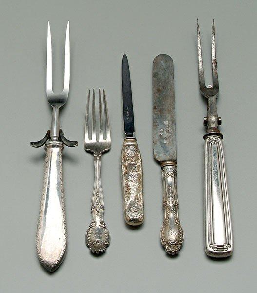 742: Tiffany sterling flatware: