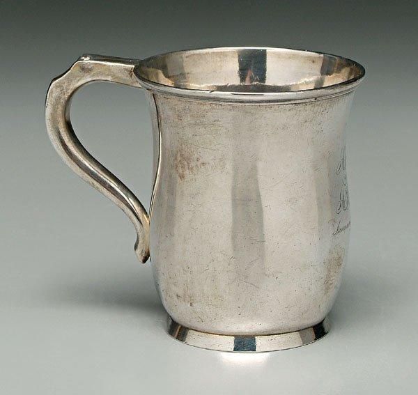 745: Coin silver mug,