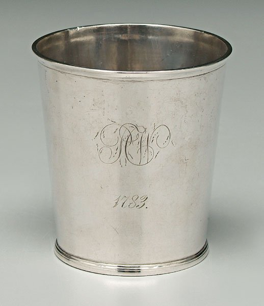 747: Coin silver julep cup,
