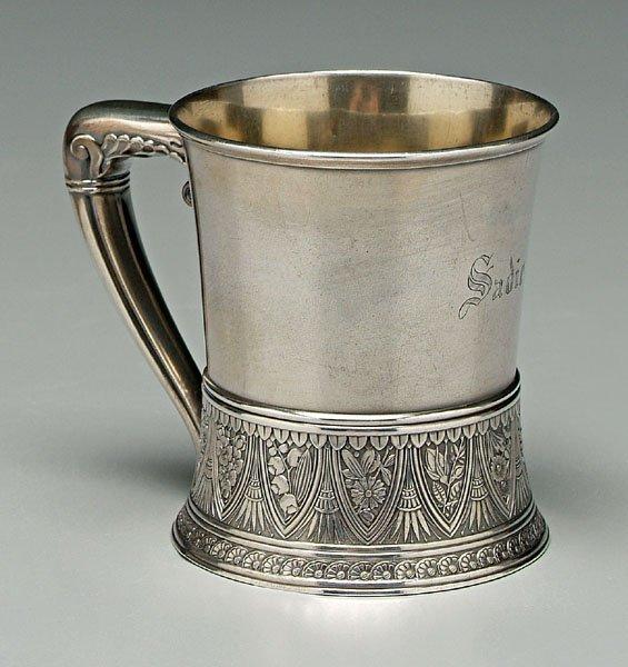 751: Gorham sterling mug,